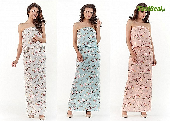 Długa sukienka w kwiaty