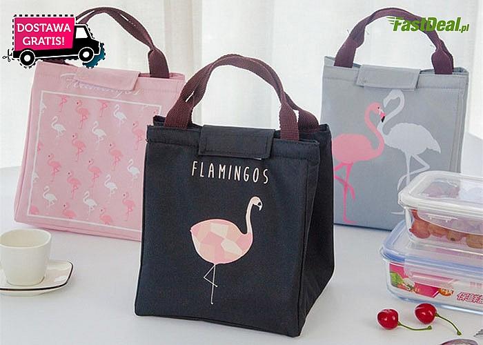 Torba termoizolacyjna z flamingiem