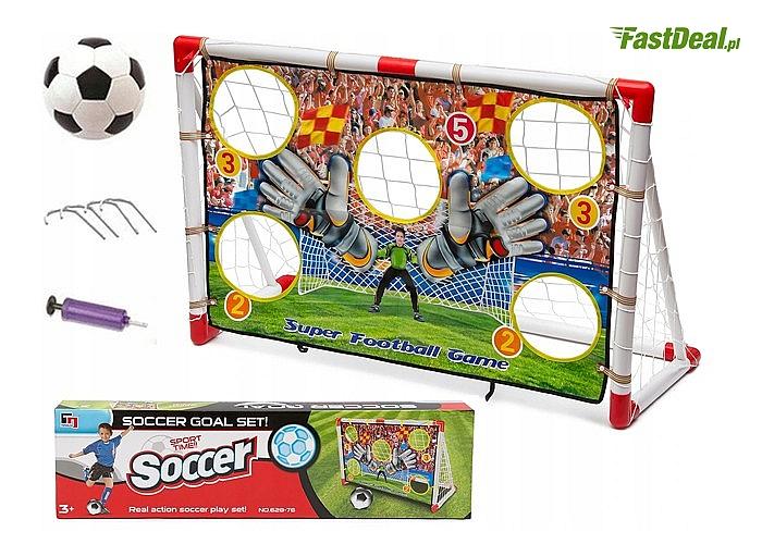 Bramka piłkarska z akcesoriami