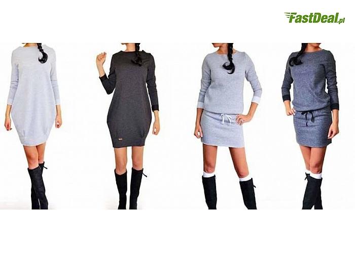 8db179bf99 Dresowa Sukienka! Włoska produkcja! Świetnej jakości wykonanie! Z kolekcji  jesień 2014 zima