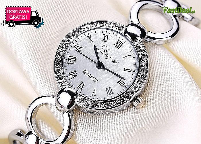 Elegancki, damski ZEGAREK LUPAI jako element biżuteryjny w sytuacjach zawodowych. Darmowa przesyłka
