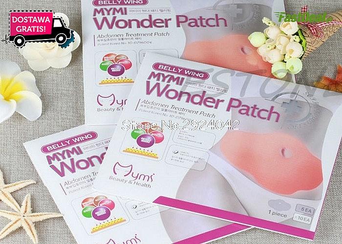 Plastry wyszczuplające brzuch MyMi Wonder Patch! 5 sztuk! Ergonomiczny kształt, doskonała przyczepność!