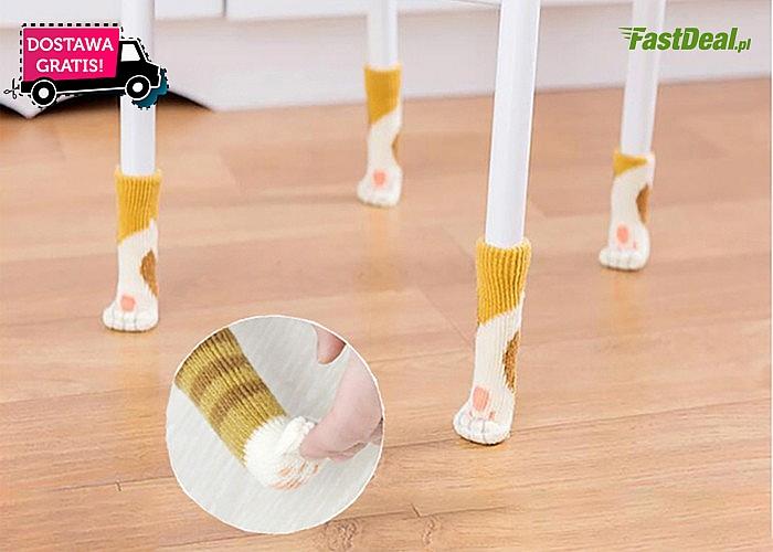 Skarpetki na meble - podrapana podłoga od krzeseł nie będzie już problemem!