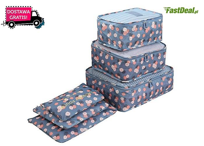Zestaw toreb do organizacji bagażu. Modny fason, oryginalna stylistyka. Różne rozmiary i kolory