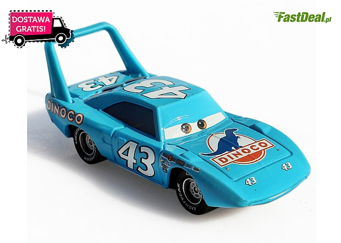 Oryginalny samochód Pixar Cars 2. King Nr 43