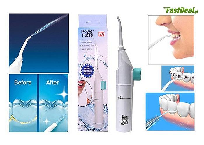 Bezprzewodowy irygator do zębów Power Floss! Praktyczne urządzenie polecane przez wielu dentystów!