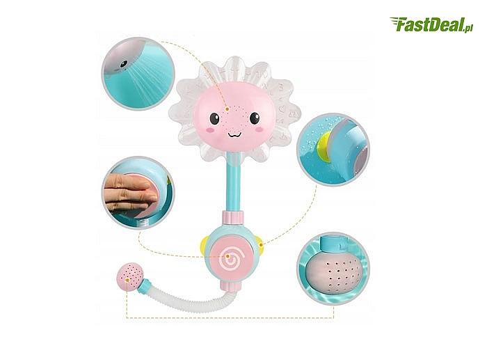 Kwiatowy prysznic SŁONECZNIK ZABAWKA DO KĄPIELI dla najmłodszych! Edukacja poprzez zabawę także podczas kąpieli!