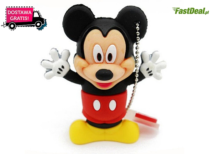 Pendrive SHANDIAN 32 GB. Oryginalny kształt Mickey i Minnie Mouse