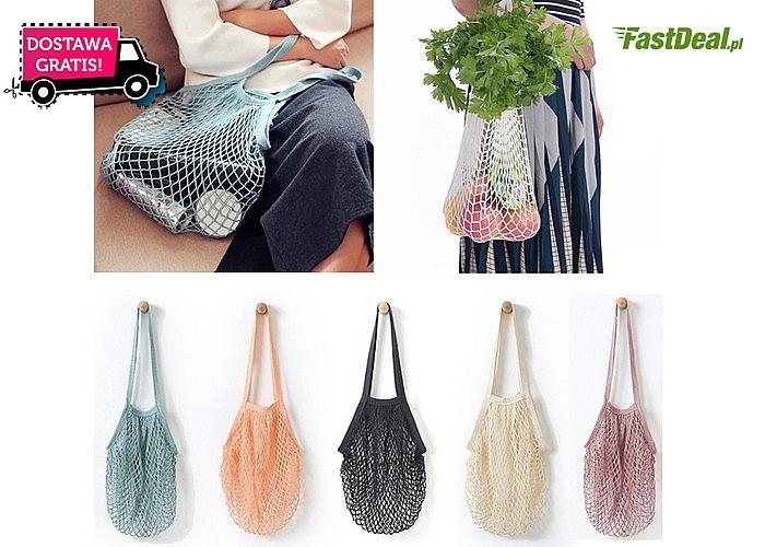 Bardzo pojemna torba na zakupy! Kilka kolorów do wyboru!