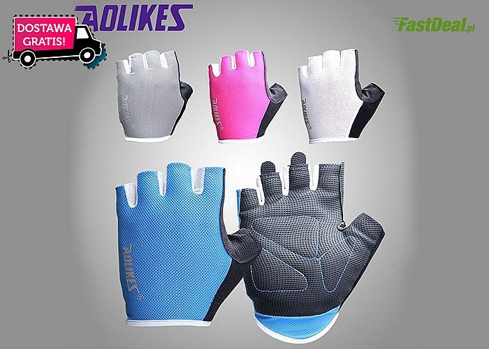 Rękawiczki sportowe! Idealne na siłownię i fitness! Zarówno dla kobiet jak i mężczyzn!
