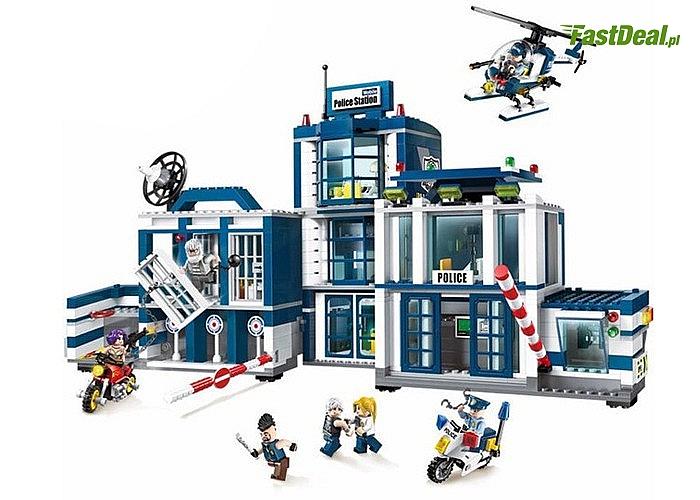 Klocki komisariat policji sprawią wiele radości małym konstruktorom
