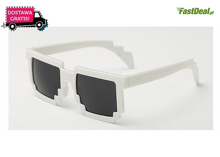 Dla dzieci oraz dla dorosłych! Okulary w stylu Minecraft! Wysoka jakość! Doskonałe odwzorowanie!