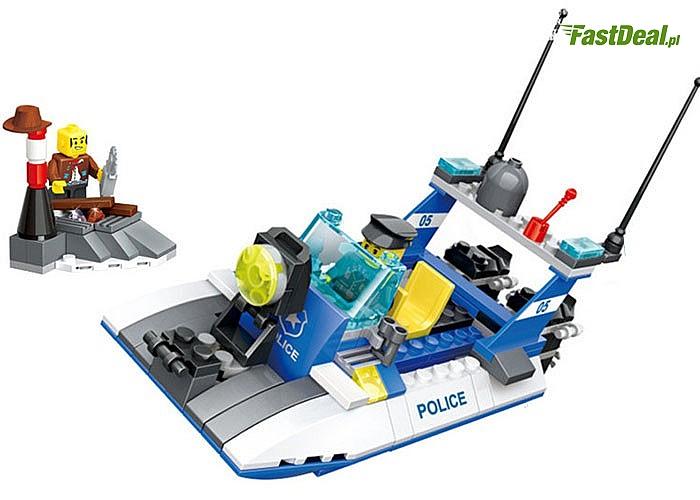 Duże zestawy klocków, do wyboru Policyjna Straż Przybrzeżna lub Mobilna Jednostka Policji