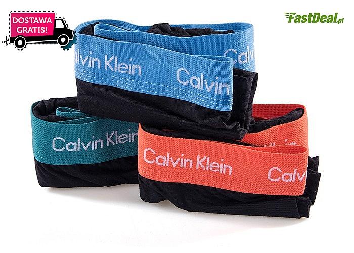 Bokserki Calvin Klein! 3 sztuki w zestawie! Przesyłka w cenie! Mnóstwo kolorów! Najwyższa jakość wykonania!