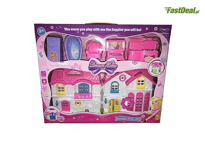 Rozkładany domek z meblami i odgłosem dzwonka to wymarzony prezent każdej dziewczynki