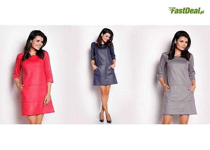 Bardzo estetyczne sukienki z modnej tkaniny, uniwersalne – pasują do wielu stylizacji, różne kolory