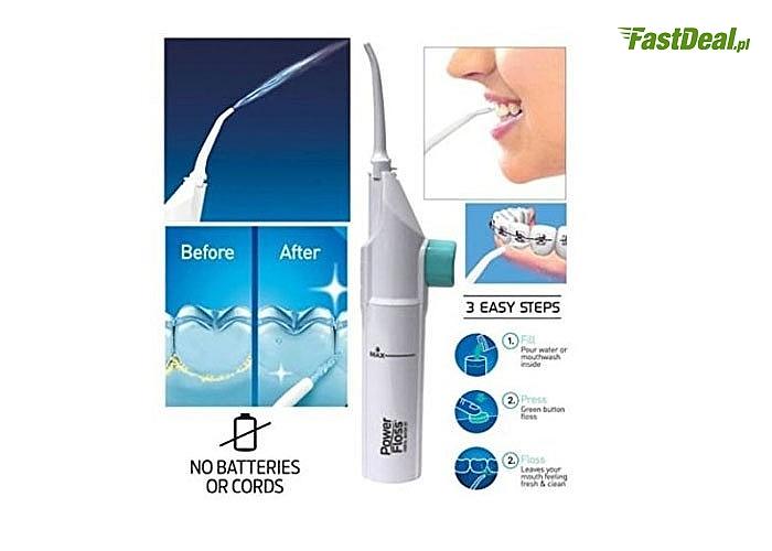 Irygator dentystyczny do higieny jamy ustnej! Bezprzewodowy POWER FLOSS! Polecany przez wielu dentystów!