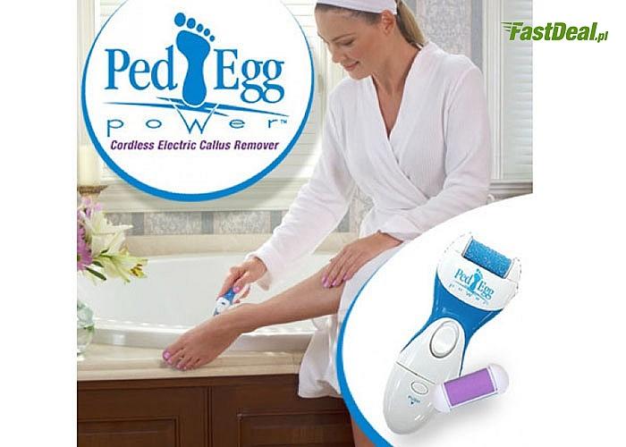 Elektryczna tarka peeling do stóp pięt Ped Egg! Jeden wkład GRATIS! Wygodnie i błyskawicznie wygładzi suchą skórę!