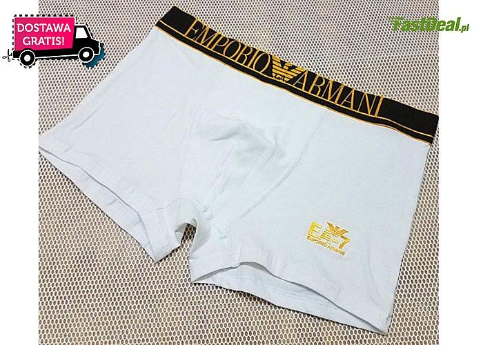 Komplet 5 sztuk bokserek Emporio Armani! Znakomita bielizna wykonana z najwyższej jakości materiałów!