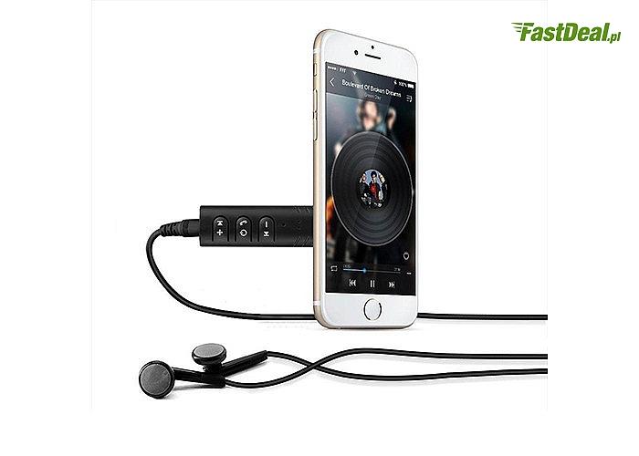 Uniwersalny transmiter Bluetooth Audio Aux z wbudowanym akumulatorem!