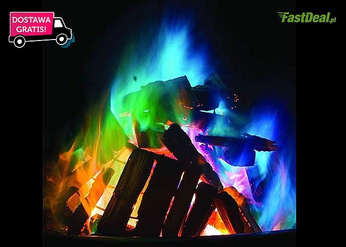 Proszek zmieniający kolor ognia