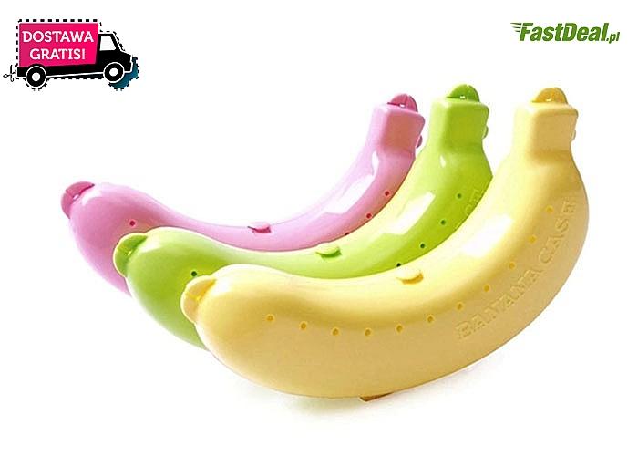 Plastikowy pojemnik do przechowywania banana.