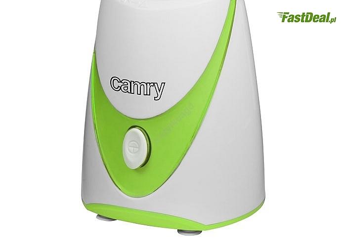 Elegancki blender personalny Camry, pozwoli szybko przygotować energetyczny koktajl