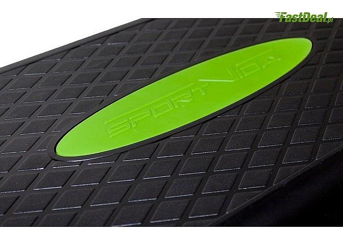 Step do ćwiczeń znanej marki SportVida! Antypoślizgowa powierzchnia podestu! Dwu lub trzystopniowy!