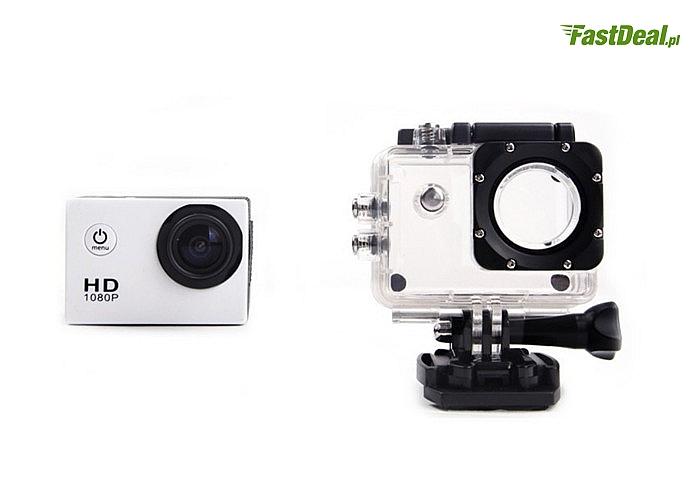 Kamera sportowa full HD! Wodoodporna! Doskonała do zdjęć i filmów robionych w wodzie!