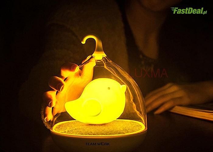 Lampka nocna LED ze śpiewem ptaszka i odgłosami lasu! Działa na dotyk! Idealna do pokoju dziecięcego!