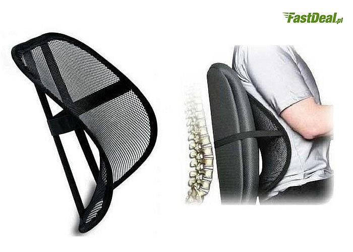 Komfort siedzenia i zdrowie gwarantowane! Ergonomiczna podpórka pod plecy