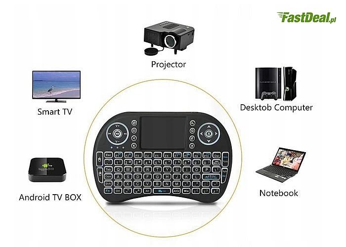 Mini klawiatura bezprzewodowa, podświetlana! Idealna do laptopów i nie tylko!