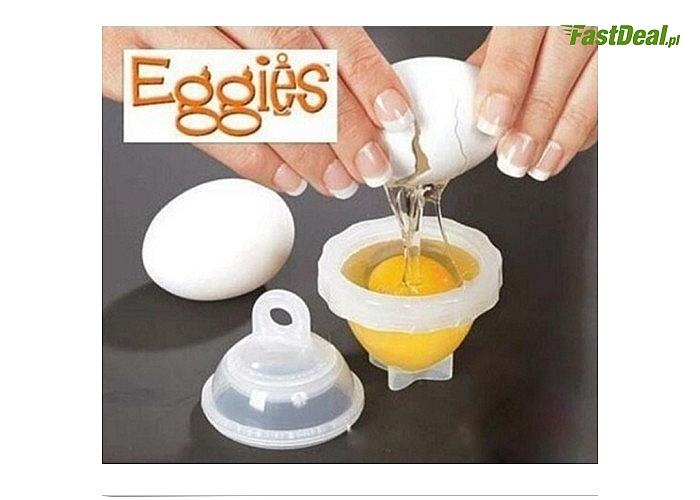 Eggies!  Praktyczna foremka do gotowania jajek bez skorupek! Koniec z czasochłonnym obieraniem!