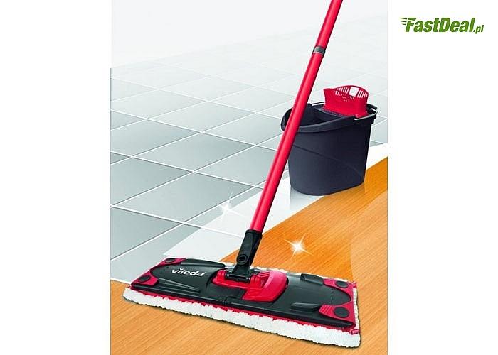 Zestaw Ultramax mop+wiadro- czystość podłogi nie zniszczone dłonie