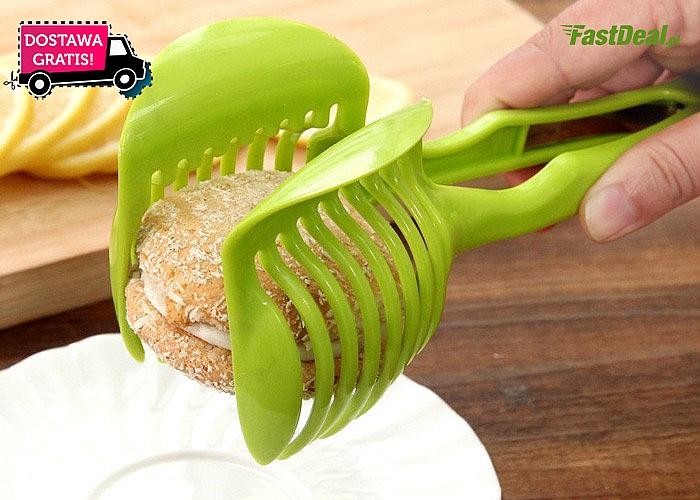 Doskonały przyrząd w nowoczesnej formie do krojenia warzyw okrągłych w plastry