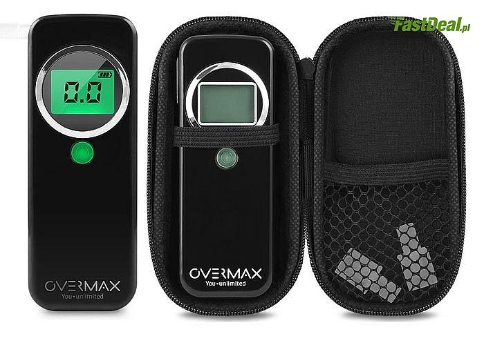 Profesjonalny alkomat Overmax AD-02! Bardzo poręczny, ustnikowy.