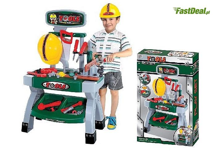 HIT! Warsztat z narzędziami! Kask w komplecie! Mnóstwo elementów! Doskonały na prezent!