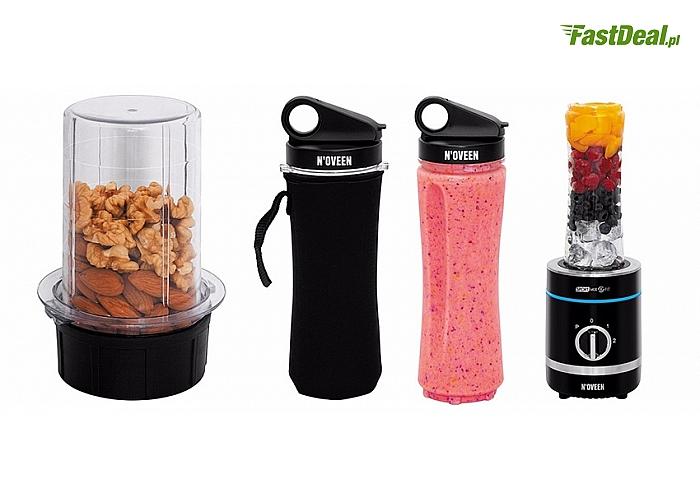 Wielofunkcyjny blender sportowy N'oveen SB1000 X-LINE SPORT MIX&FIT do kruszenia lodu, siekania nasion oraz ziaren kawy!