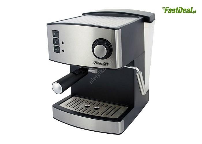 Ekspres ciśnieniowy Mesko pozwala rozkoszować się przyjemnym smakiem i aromatem kawy