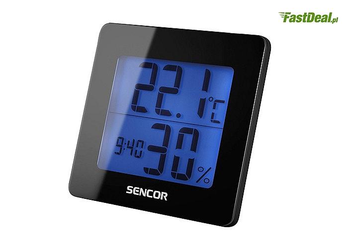 Stacja pogody, termometr, higrometr, zegar  5w1