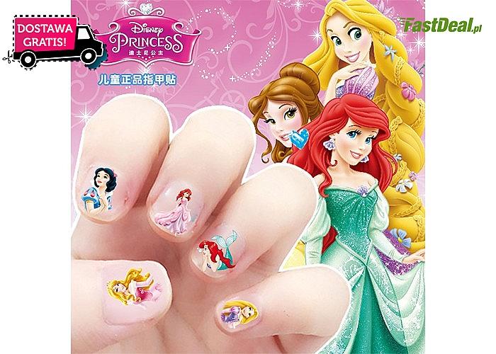 Super zestawy dla dziewczynek!! Naklejki na paznokcie z księżniczkami!