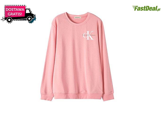 Klasyczna bluza Calvin Klein! Doskonałe dopasowanie! DARMOWA dostawa! Najwyższa jakość wykonania!