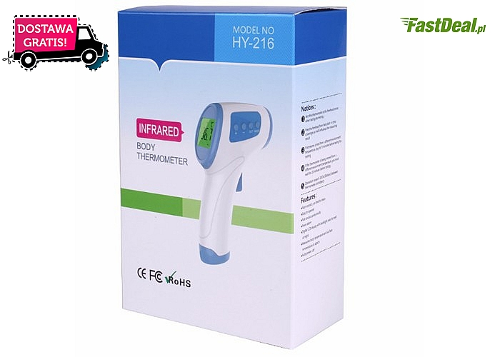 Termometr bezdotykowy jest idealny w domu i w podróży! Bezinwazyjny i prosty pomiar temperatury!