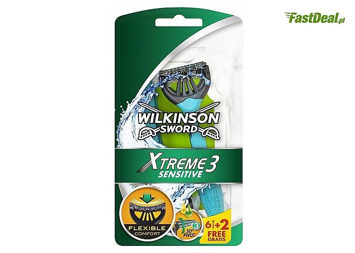 Maszynki do golenia! Wilkinson Xtreme 3 Sensitive! 8 sztuk w zestawie!