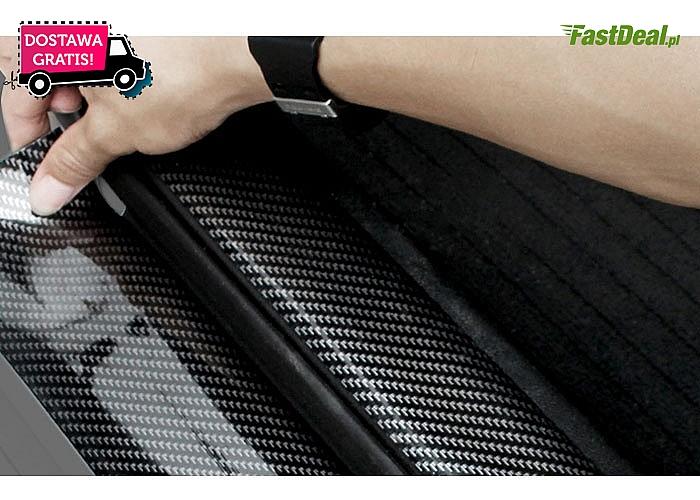 HIT! Uniwersalna guma samochodowa! Wysokiej jakości włókno węglowe! Idealna do progów, zderzaków i nie tylko!