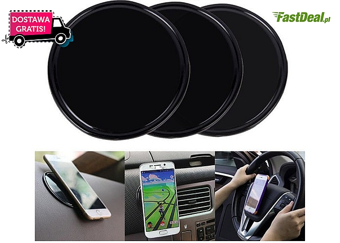 Niezwykła funkcjonalność! Podkładka idealnie pasuje do deski rozdzielczej w samochodzie czy na biurko!