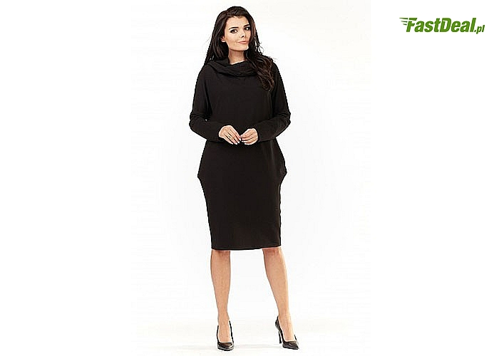 Sukienka Dresowa , modna a zarazem bardzo wygodna, zaprojektowana w sposób gwarantujący komfort użytkowania