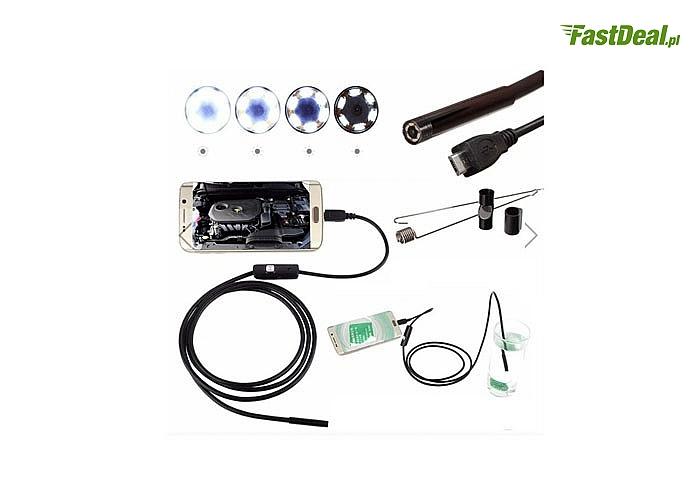 Endoskop! Wodoszczelna kamera USB z wbudowanym oświetleniem LED! Obserwuj trudno dostępne miejsca!