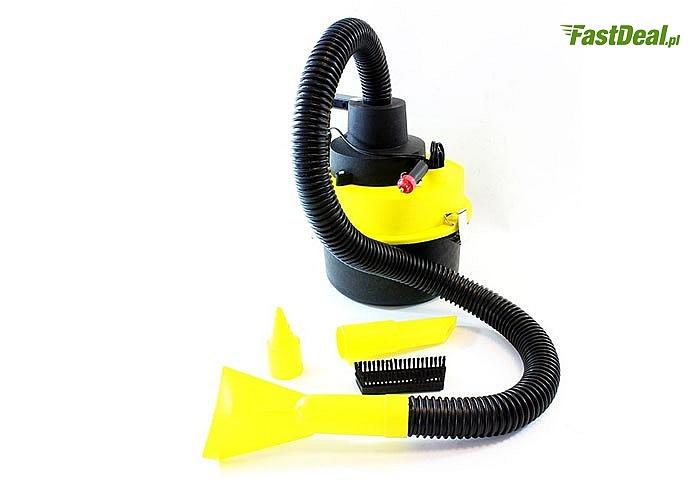 Uniwersalny i łatwy w obsłudze! Odkurzacz samochodowy 12V! Pomoże utrzymać czystość w Twoim samochodzie!