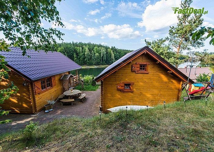 Postaw na Kaszuby! Komfortowe domki z widokiem na jezioro Rzuno w Dziemianach! 300M do plaży!